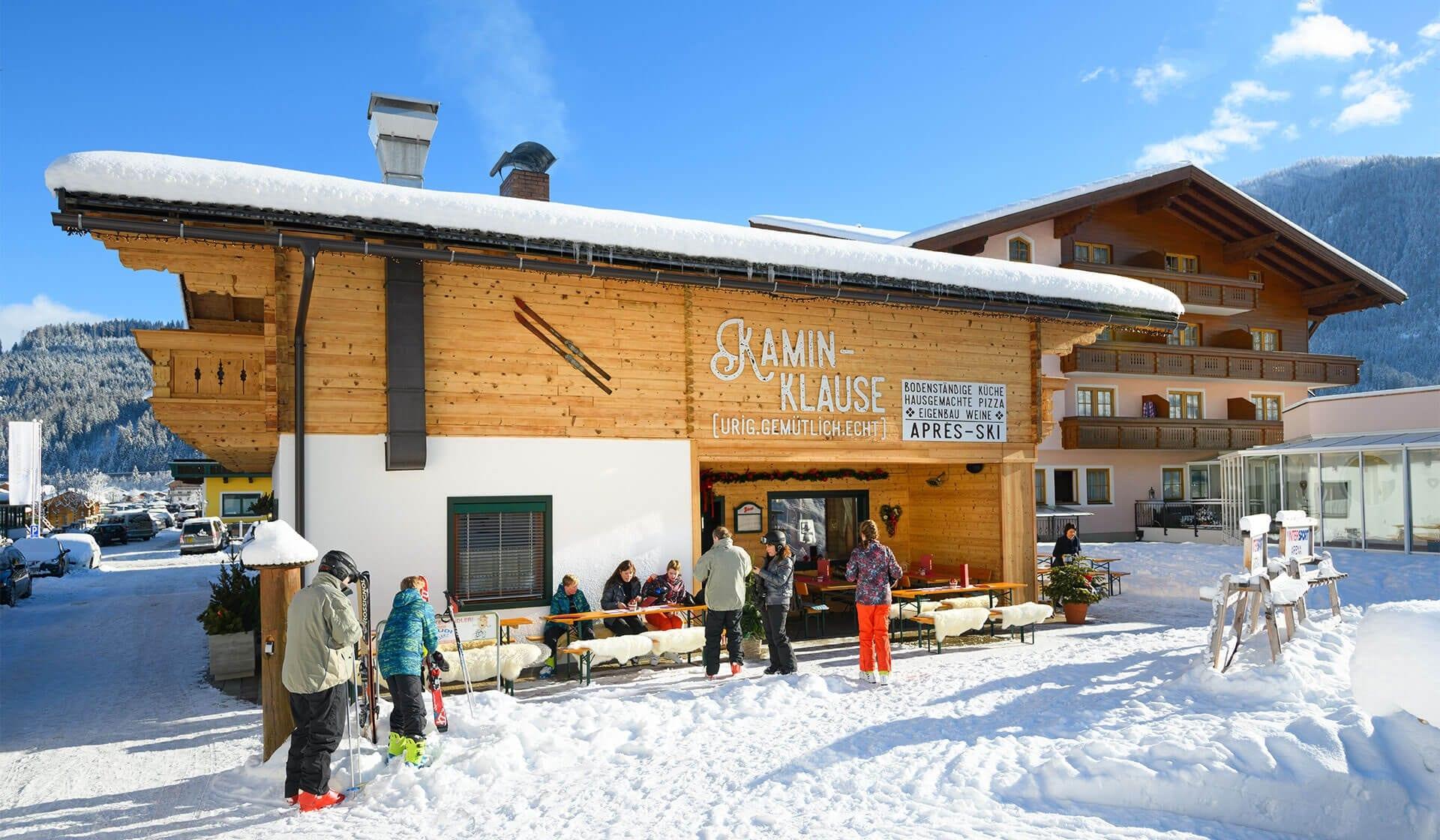 Après-Ski mit Stil in Flachau, Ski-Restaurant direkt an der Piste